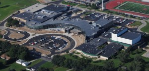 Aerial photo of the High School.