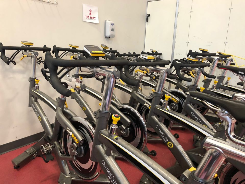 Cardio cycles offered in the fitness center.