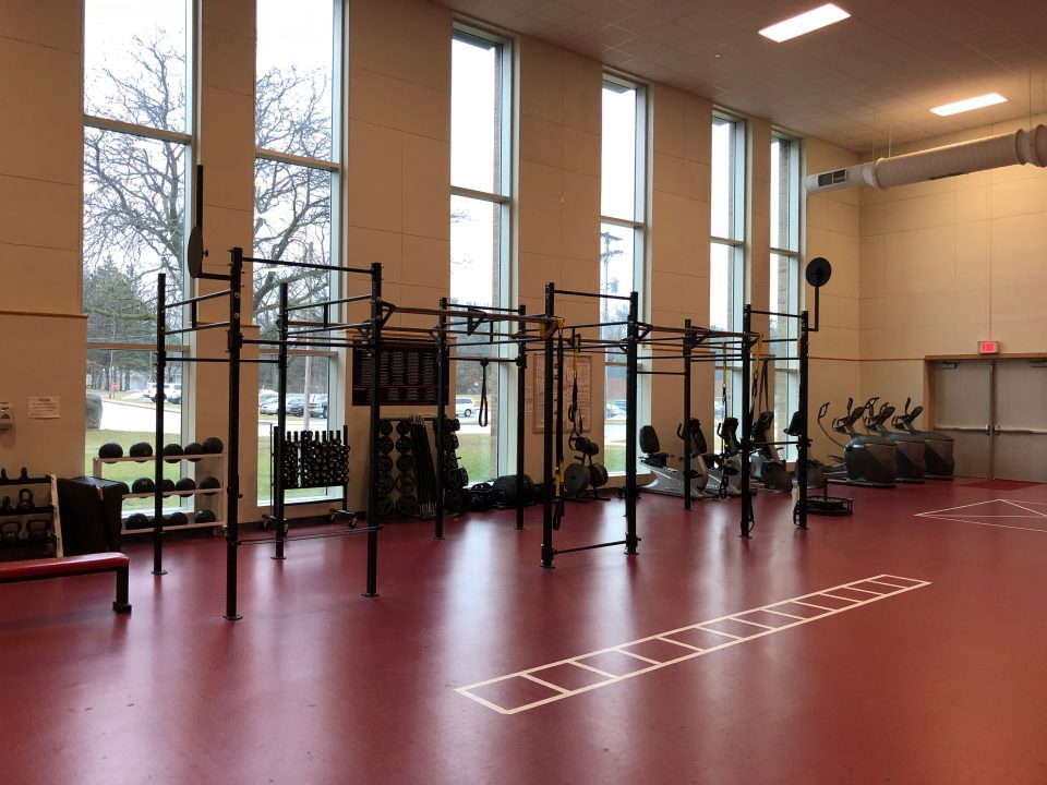 Metal structures used for various training styles, including resistance training.