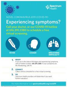 Corona Virus Hotline Poster
