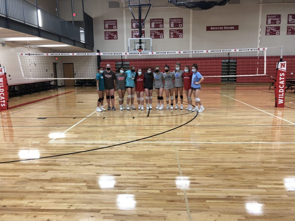 New Volleyball equipment has been purchased as part of the bond.